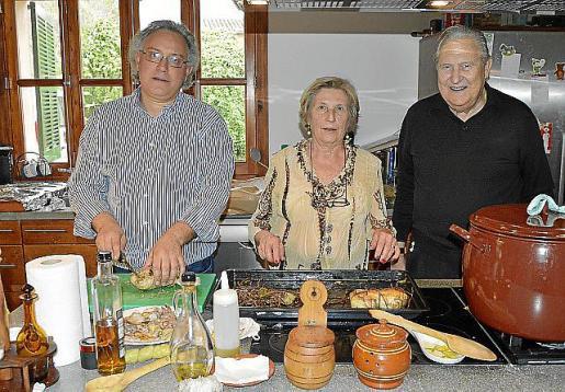 Pep Lluís Vidal, Mimida Planas y Pep Sans.