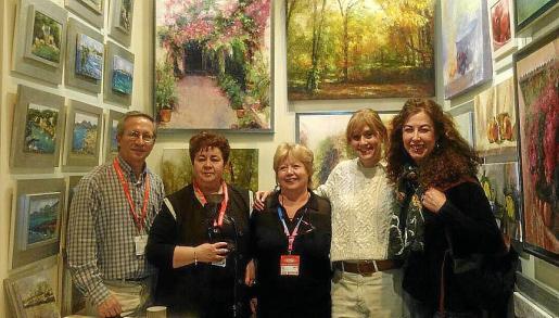 Blas Ferreras, Lola Catalá, Concha Camarena, Carmen Mansilla y Asun Montejano.