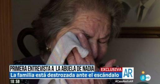 Imágenes de la abuela materna de Nadia, entrevistada en el programa matinal de Telecinco.