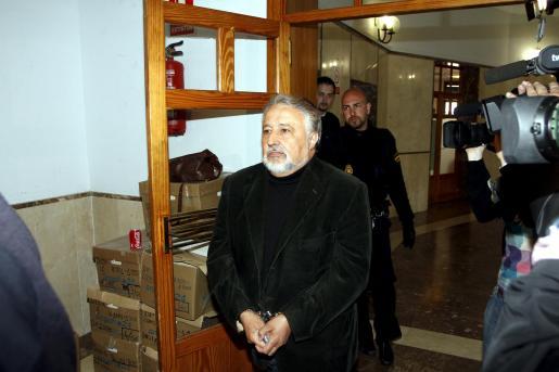 Jaume Massot, entrando en los juzgados de Palma en abril de este año.