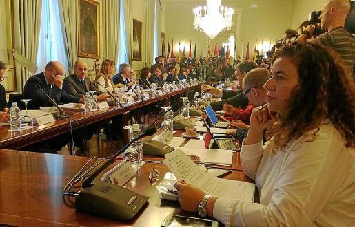 La consellera Pilar Costa, en la reunión preparatoria de la Conferencia de Presidentes.