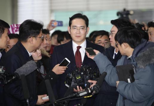 Lee Jae-yong, heredero de Samsung, durante una aparición pública hace unos días.