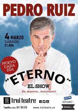 Cartel del espectáculo de Pedro Ruiz.