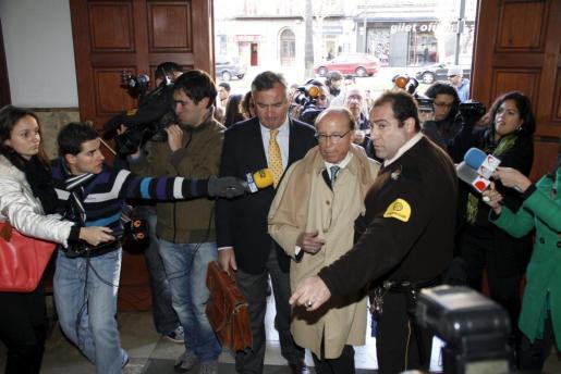 El empresario Ruiz-Mateos, en una imagen de archivo en los juzgados de Palma.