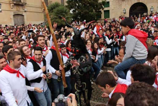 Celebración de Sant Antoni en Artà.