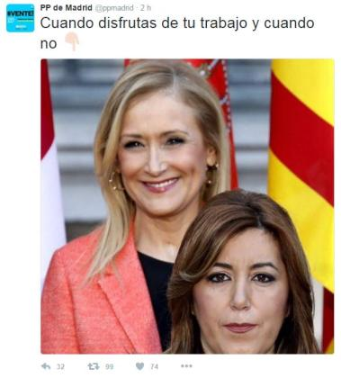Captura del mensaje difundido por los populares madrileños en Twitter.