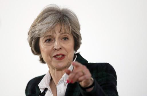Theresa May, durante su parlamento.