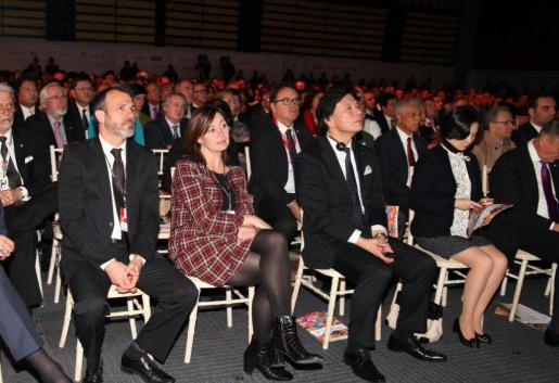 El vicepresient de las Illes Balears, Biel Barceló, y la presidenta, Francina Armengol, este miércoles en Fitur.