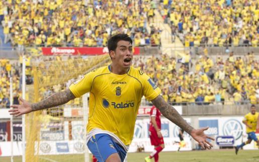 En la imagen, el delantero argentino de la UD Las Palmas, Sergio Araujo.