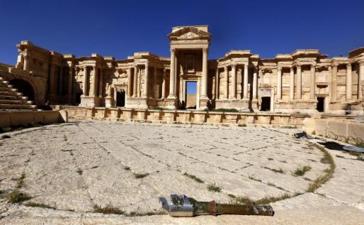 Foto de archivo tomada el 4 de enero de 2016 del famoso teatro romano de Palmira (Siria).