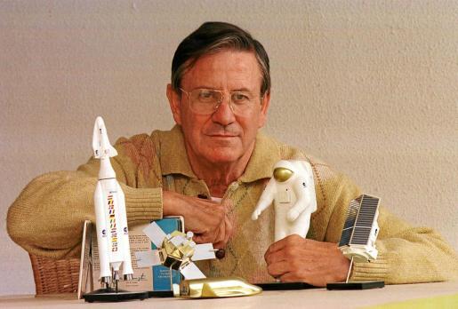 Andrés Ripoll fotografiado en 1998 en Palma. El doctor ingeniero espacial confiaba en que el hombre conquistara el espacio
