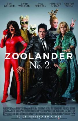 En la imagen, el póster de la película «Zoolander 2».