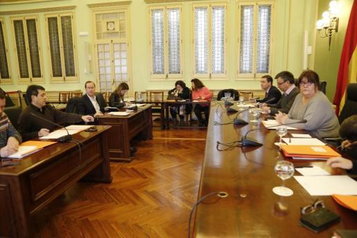 Imagen de la Junta de portavoces del Parlament.