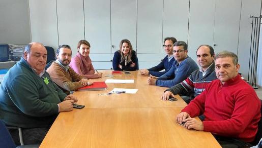 Representantes de todas las patronales de taxis se reunieron este martes con regidores del Ajuntament de Palma.