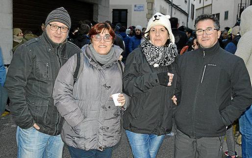 Felip Orts, Isabel Granota, Francisca Llobera y Joaquín Colomar.