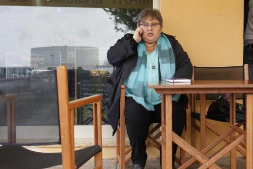 La diputada expulsada de Podemos, antes de una comparecencia ante la prensa en Menorca.