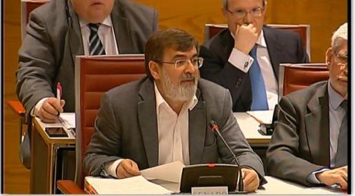 El senador por Baleares Francesc Antich durante el debate de una moción en la Comisión General de las Comunidades Autónomas.
