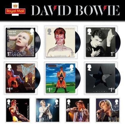 La Royal Mail homenajea a David Bowie con una serie de diez sellos.
