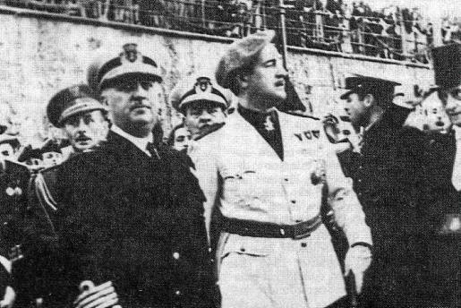Franco con el gobernador Pardo Suárez.