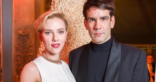 Scarlett Johansson y Romain Dauriac.