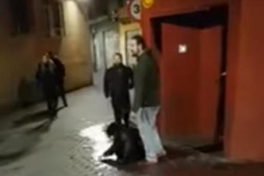 Fotograma del vídeo de la agresión en el que se aprecia a la joven tirada en el suelo tras recibir golpes de más de una decena de individuos.