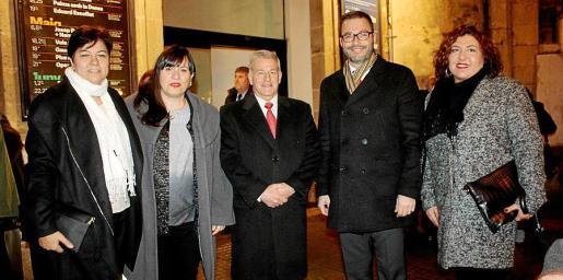 Susanna Moll, Helena Paquier, Manuel Fernández-Roca, José Hila y María Antonia Sureda.