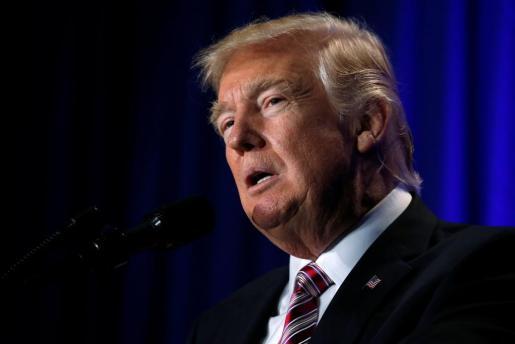 En la imagen, el presidente de los Estados Unidos, Donald Trump.