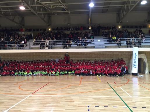 Imagen de la presentación de la cantera del Palma Futsal.
