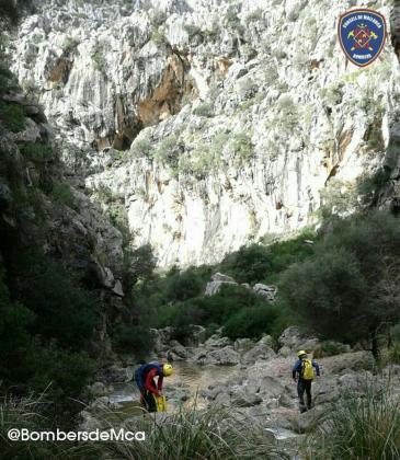Los Bombers de Mallorca han acudido al lugar en el que se encontraba el senderista.