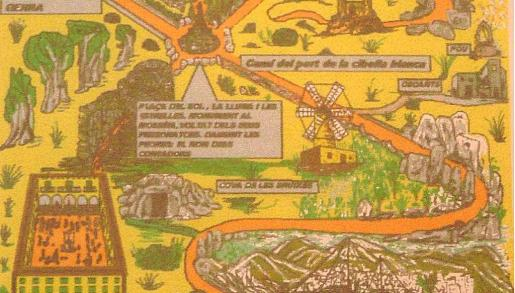 Plano del parque temático de Miquel Riera Alcover