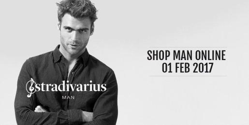 Imagen de la campaña de Stradivarius Man.
