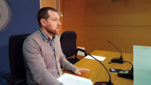 David Abril, durante la rueda de prensa.