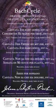 Cartel de conciertos del Bach Cycle.