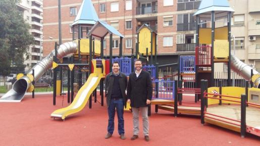 En la imagen, el alcalde de Palma, José Hila y el regidor de Infraesctures i Vialitat del Ajuntament de Palma, Rodrigo Romero.