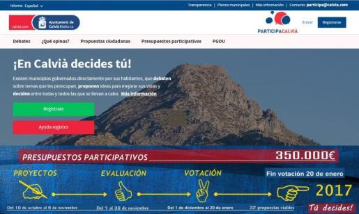 El proceso de votación se inició en diciembre con la plataforma www.participacalvia.es.