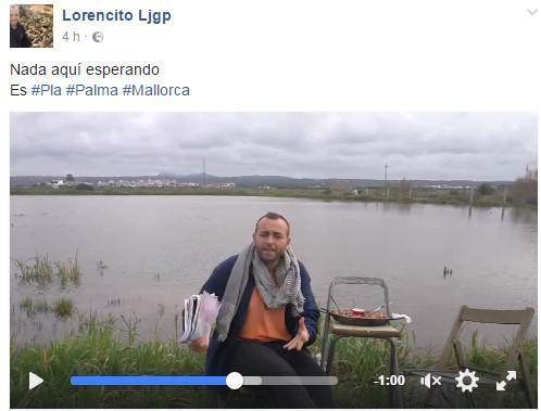 Lorencito Ljgp en el último vídeo que ha colgado en su perfil de Facebook.