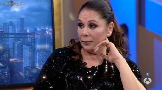 Isabel Pantoja, durante la entrevista.