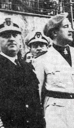 Franco y el gobernador Pardo.