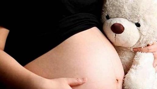 Imagen de una mujer embarazada.