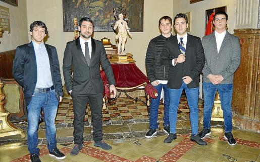 Pedro José Fernández, Josep Seguí, Jaume Cifre, Toni Suau y Joan Sastre.