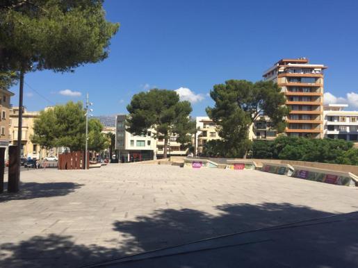 Vista de la plaza Mallorca de Inca.