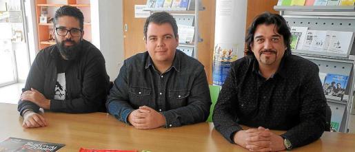 Javier Rodríguez, Raúl Díaz y Luis González durante la presentación de la actividad, ayer en Sant Antoni.