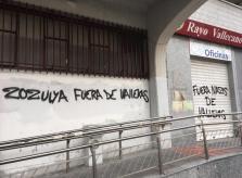 Pintadas contra Zozulya en Vallecas
