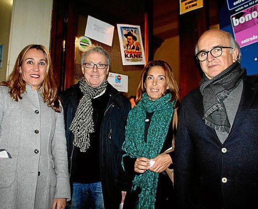 Alicia Puerto, Luis Maraver, Malén Xamena y Xisco Munar.