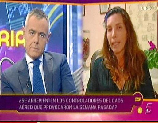 Jordi González y Cristina Antón, durante el programa.