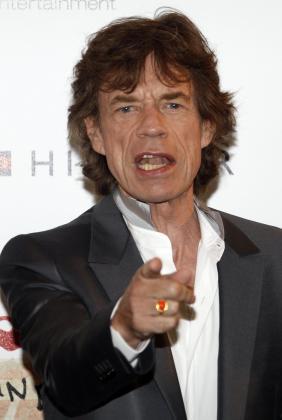 El cantante de los Rolling Stones Mick Jagger.