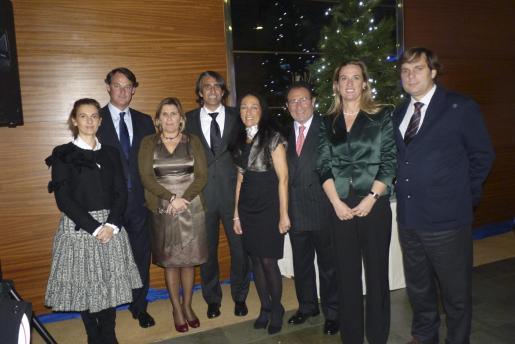 Paula Domenech, Gonzalo Echevarría, Marilen Pol, Gabriel Coll, de Quely; Marcos Paredes y esposa, Mercedes Conrado y Rafael Carcasona.