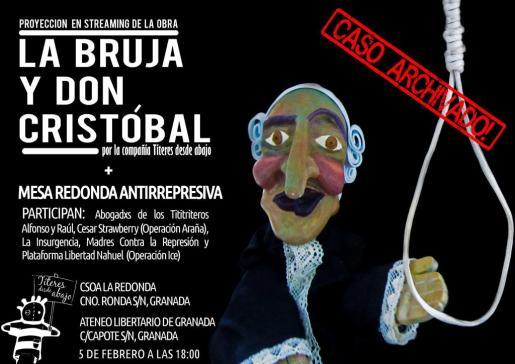Cartel de 'La bruja y Don Cristobal', de Títeres desde Abajo.