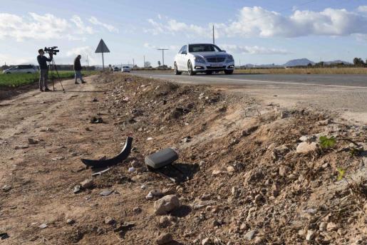 El accidente ha tenido lugar en el kilómetro 4,400 de la carretera RMF36, que une las localidades de La Palma y Torre Pacheco.