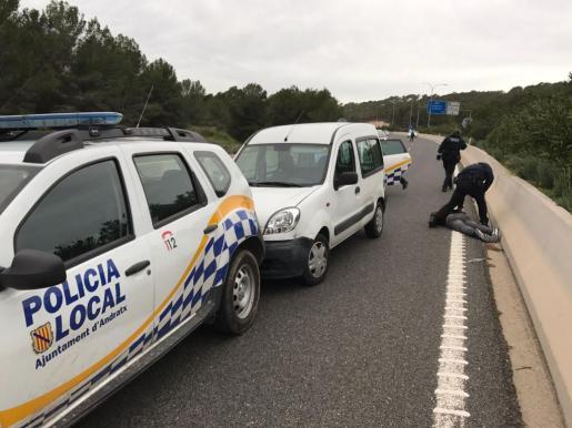 La Policía Local de Andratx detuvo al sospechoso.